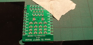 MOSFET Shield for Wemos D1 mini after solder stencilling