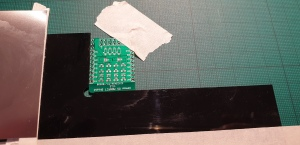 MOSFET Shield for Wemos D1 mini before solder stencilling