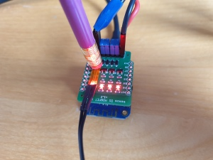MOSFET Shield for Wemos D1 mini Power Testing Temperature